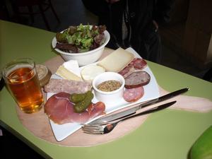 L'assiette salée proposée pour les collations à la ferme (goûter ou casse-croûte)