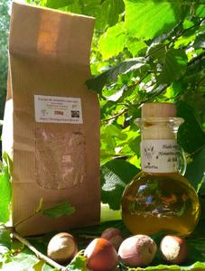 Farine et huile de noisette